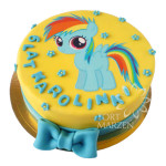Tort z grafiką kucyka Rainbow Dash z My little pony