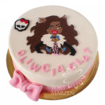 Tort z postacią Clawdeen Wolf z Monster High