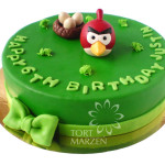 Tort z figurk Angry Birds