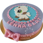 Tort z kucykiem littlest pet shop