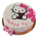Tort Hello Kitty z misiem