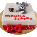 Tort z figurkami Tom i Jerry