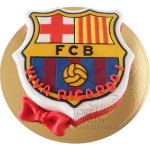Tort w ksztacie herbu FC Barcelona